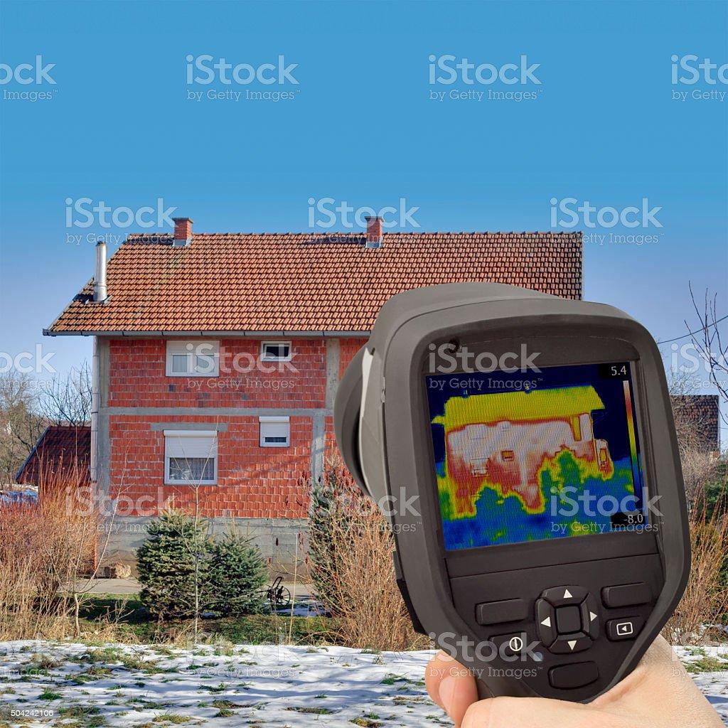 Facade Infrared Testing stock photo
