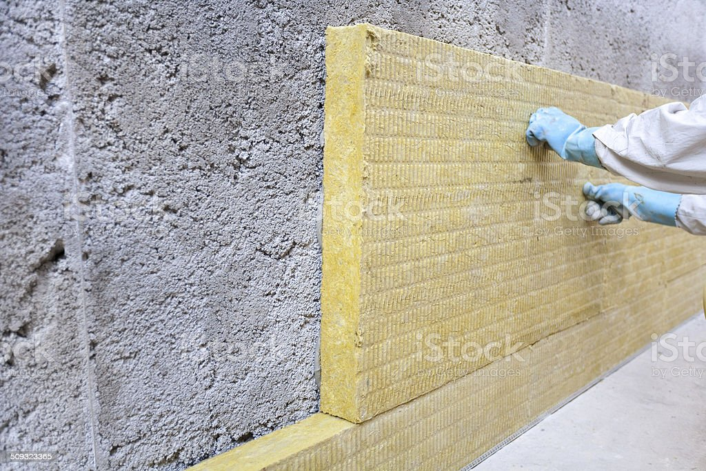 Facade insulation stock photo