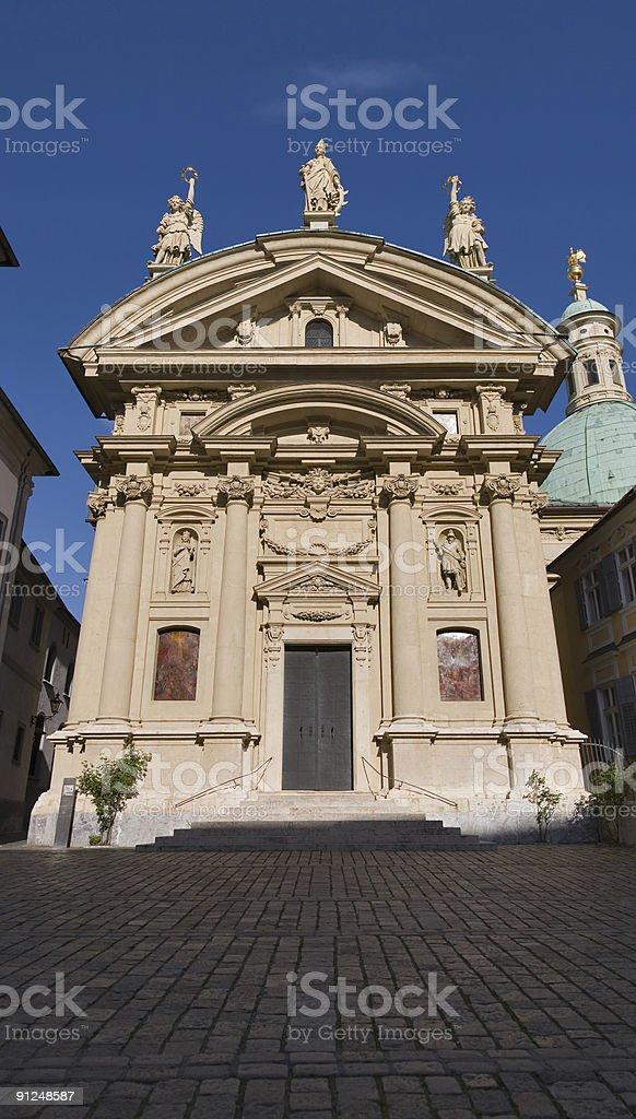 Facade mausoleum of emperor Ferdinand in Graz royalty-free stock photo
