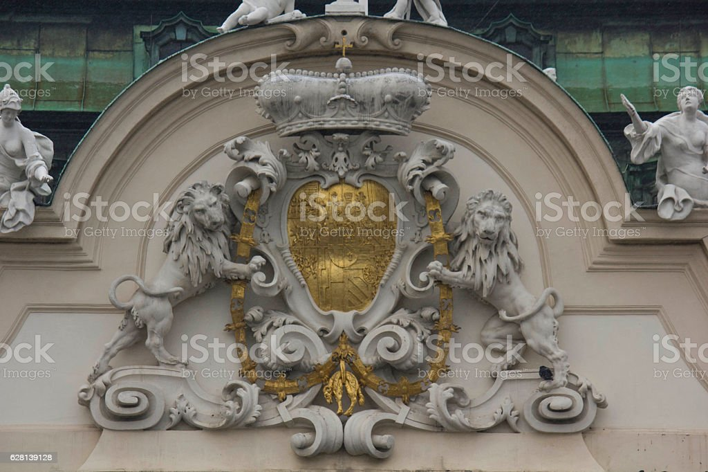 facade od Schloss Belvedere stock photo