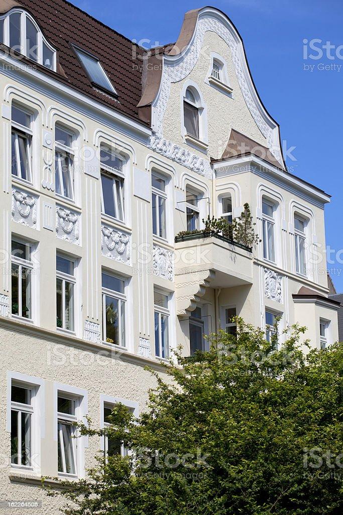 Facade of a art nouveau building in Kiel, Germany royalty-free stock photo