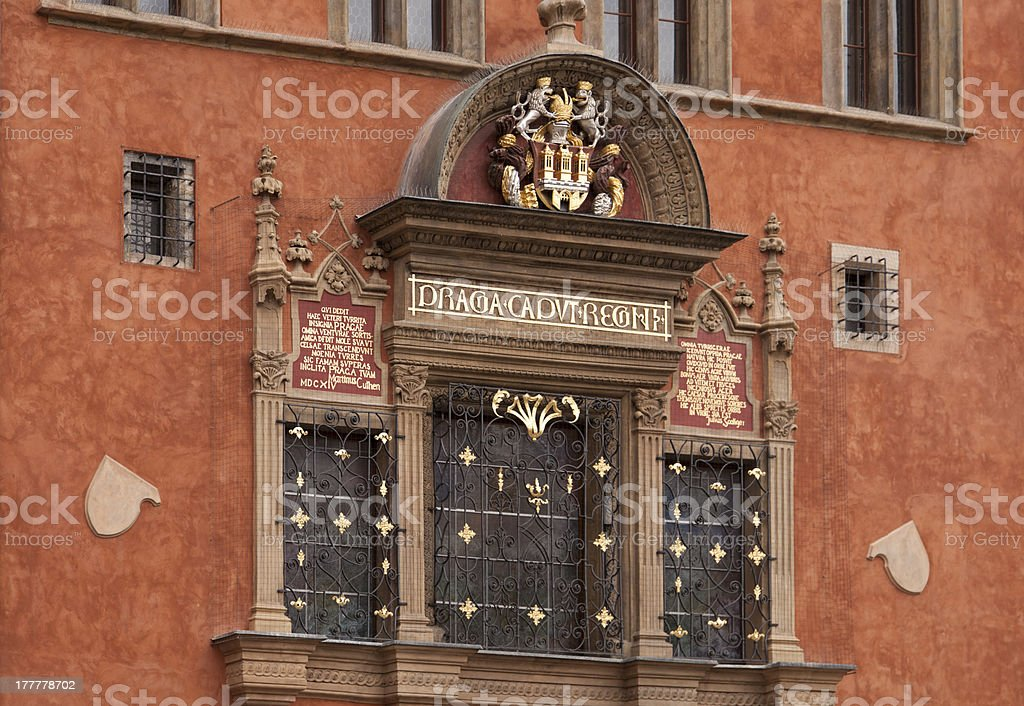 Facade of a building in Old Town stock photo