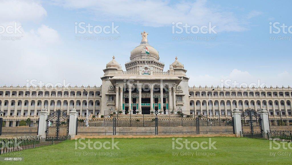 Facade of a government building stock photo