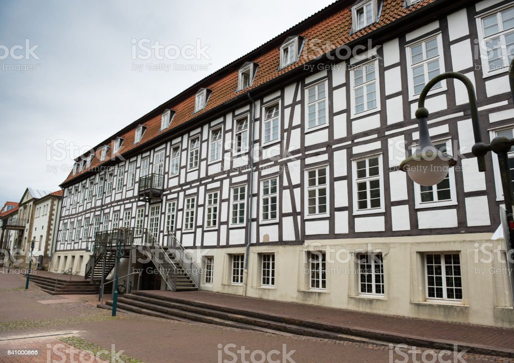 Facade of a historic building in Horn-Bad Meinberg, Lippe, stock photo
