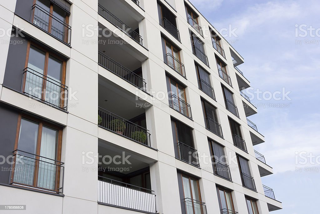 Facade of a modern apartment building royalty-free stock photo