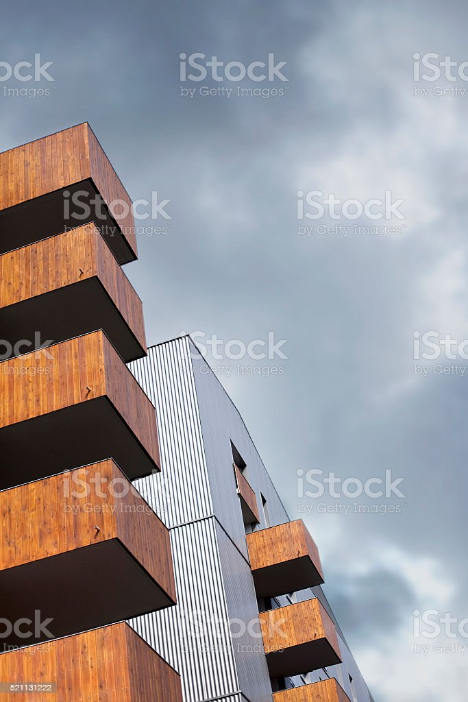 Facade of a modern building stock photo