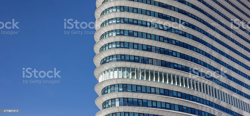 Facade of a modern office building in Groningen stock photo