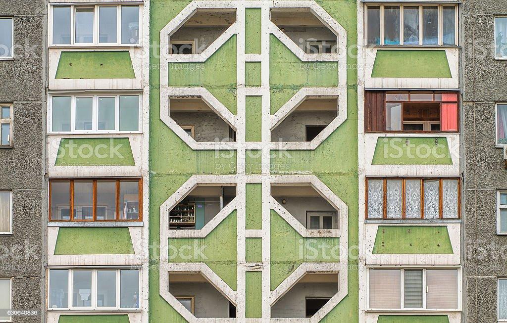 Facade of a modern pre-fabricated house stock photo