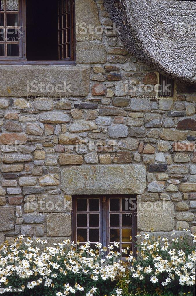 Facade of a normandy country house stock photo