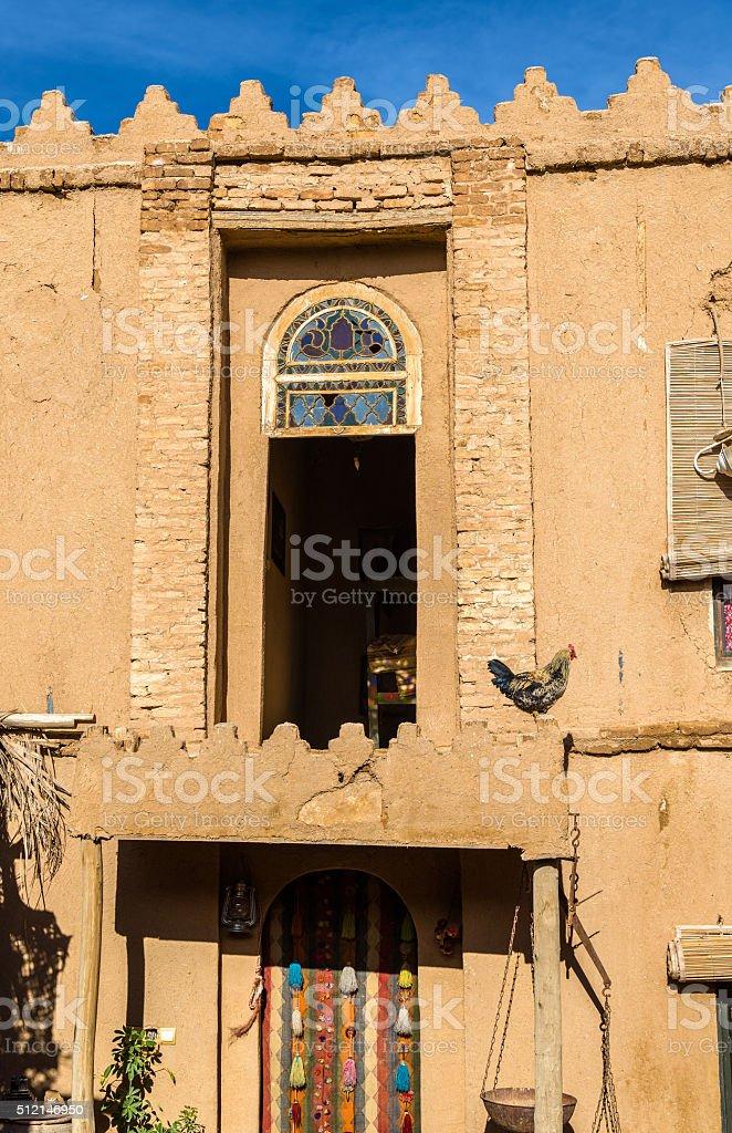 Facade of a rural house in Marvdasht, Iran stock photo