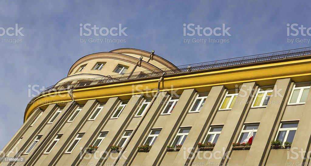 Facade of apartment house royalty-free stock photo