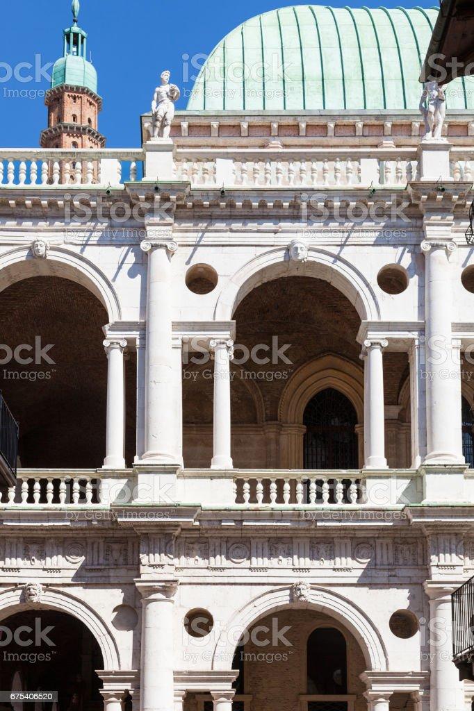 facade of basilica palladiana in Vicenza stock photo