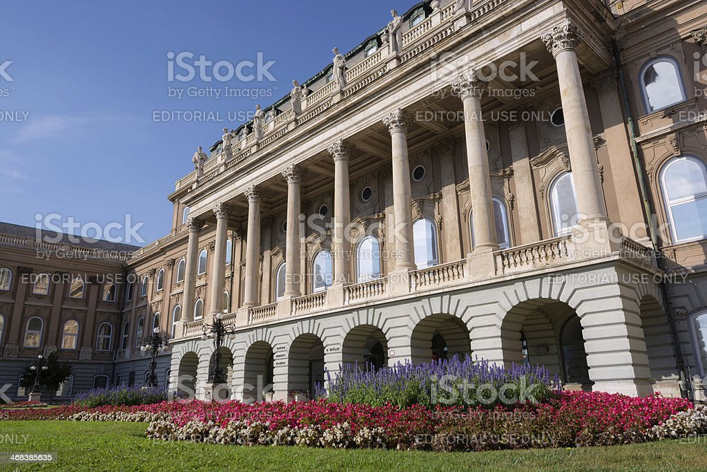 Facade of Buda Castle in Budapest, Hungary royalty-free stock photo