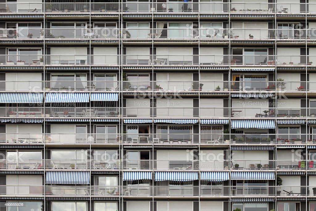Facade of building stock photo
