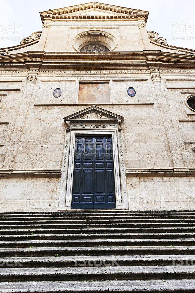 facade of church in Rome stock photo