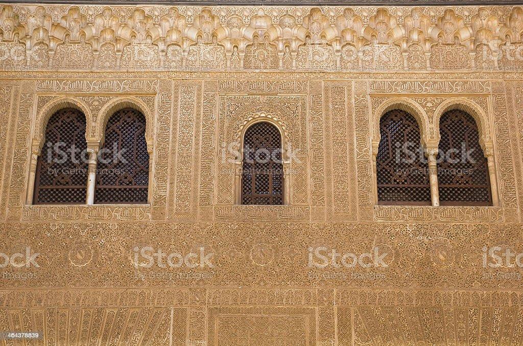 Facade of Comares stock photo