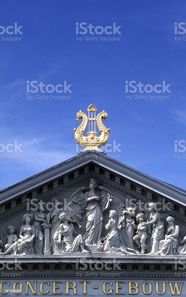 facade of concert hall stock photo