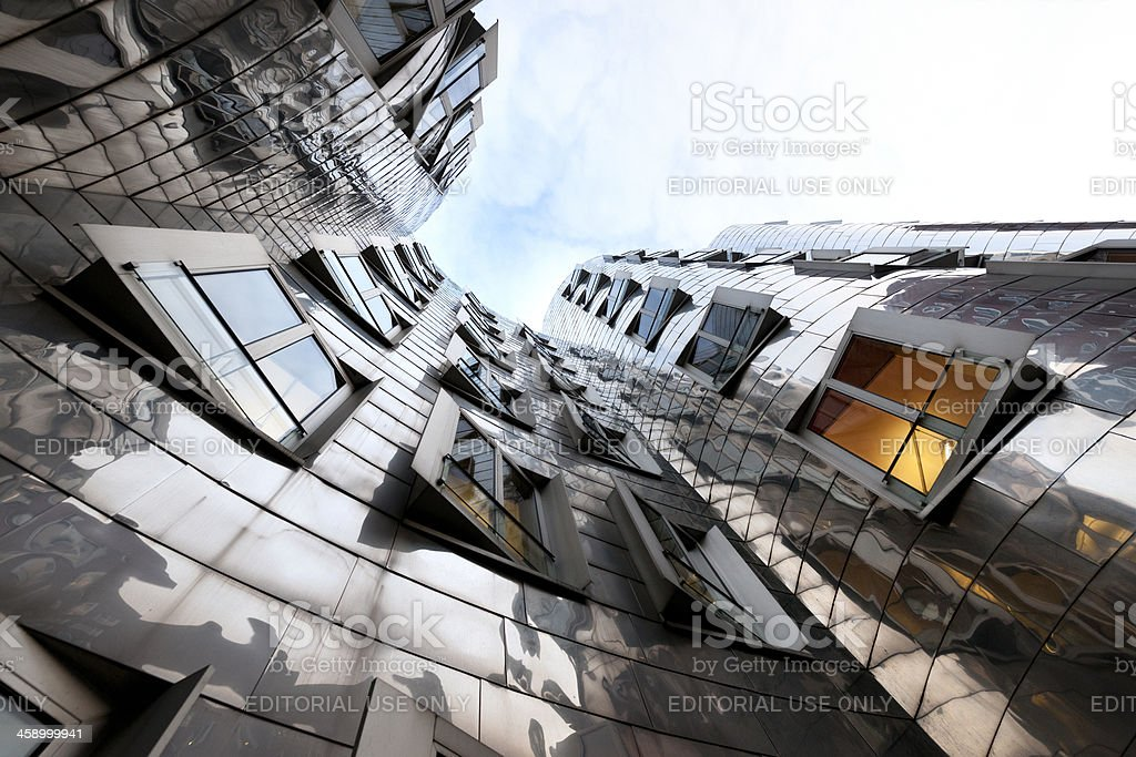 facade of contemporary office building at Media Harbor Dusseldorf Germany royalty-free stock photo
