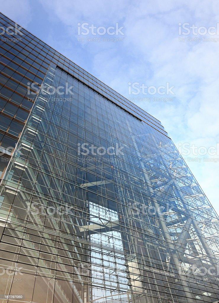 facade of contemporary office building stock photo
