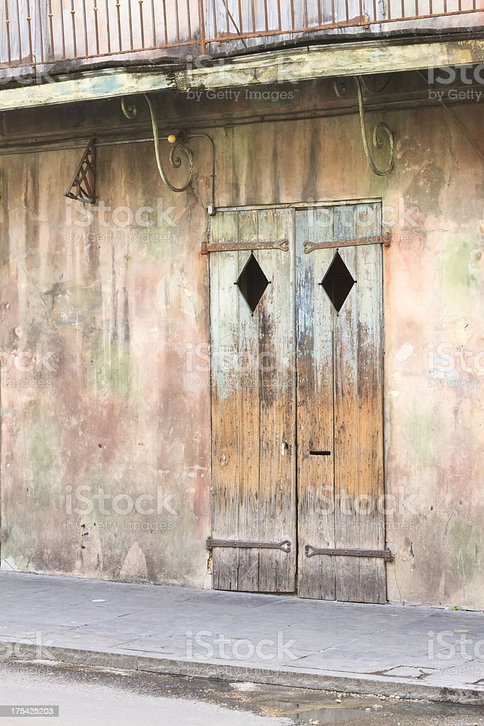 Facade Of Famous New Orleans Jazz Hall stock photo