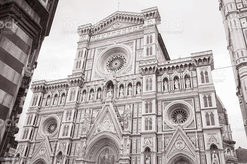 Facade of Florence Cathedral royalty-free stock photo