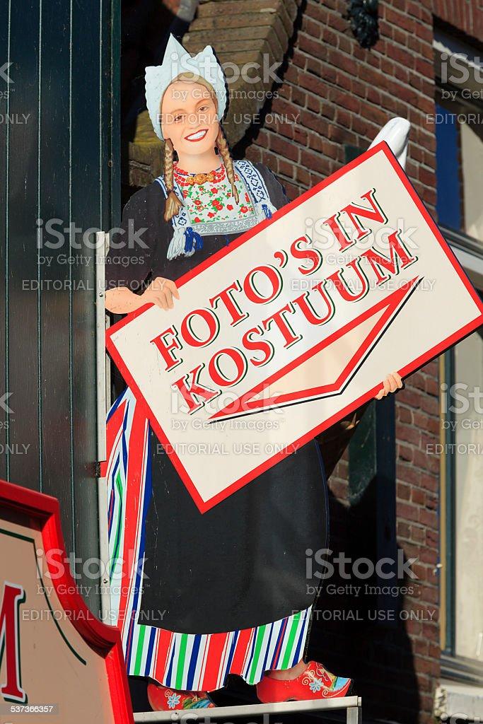 facade of Foto De Boer in Volendam stock photo
