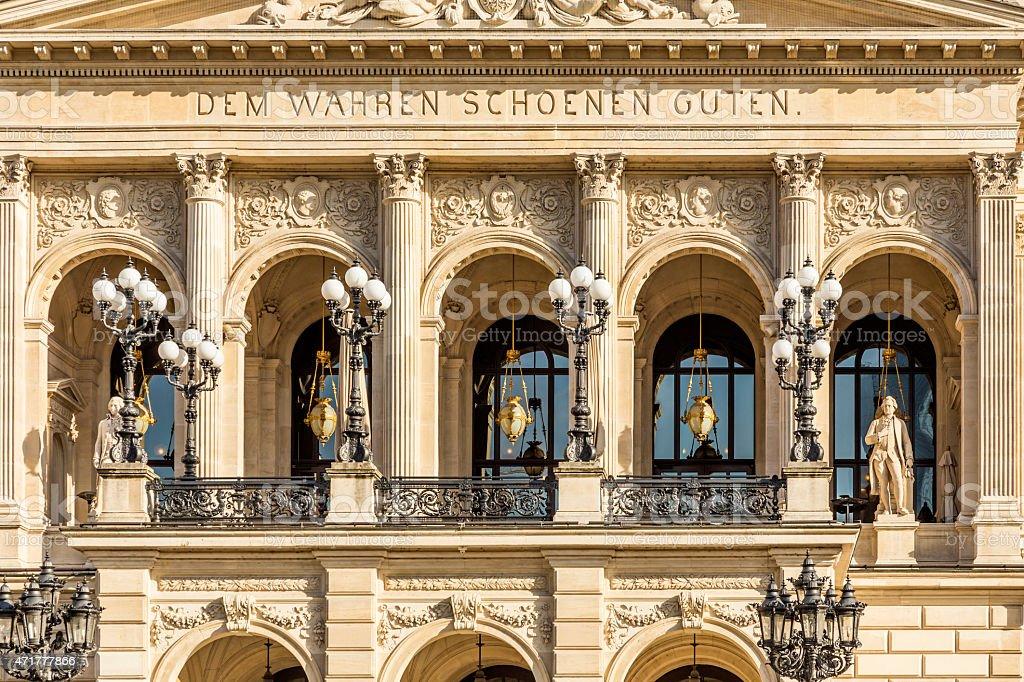 facade of frankfurts alte oper stock photo