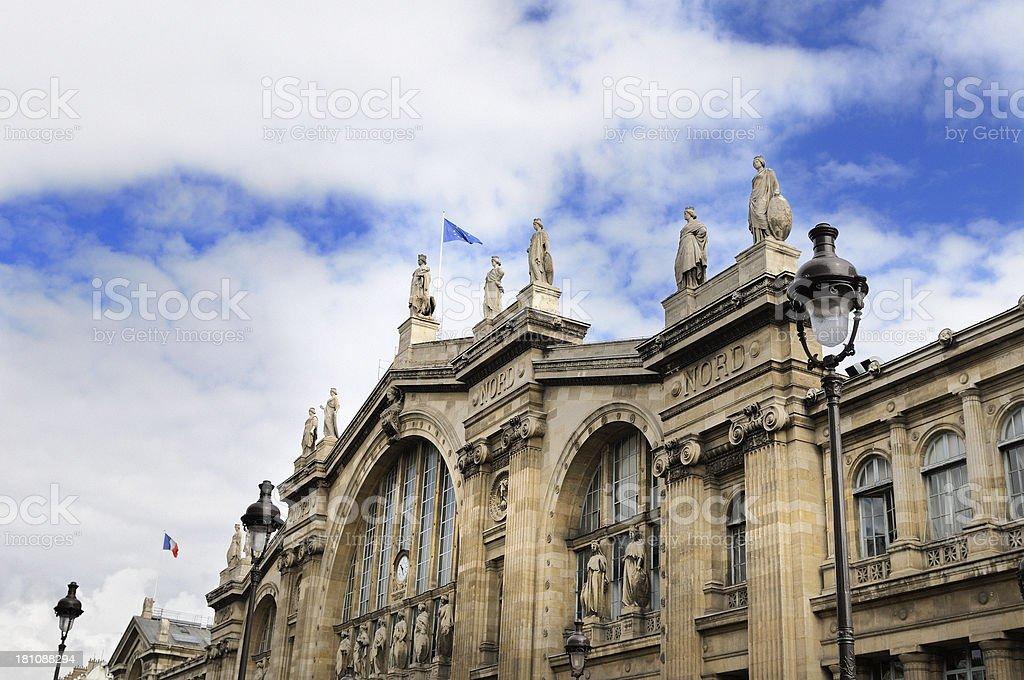 Facade of Gare du Nord, Paris France royalty-free stock photo