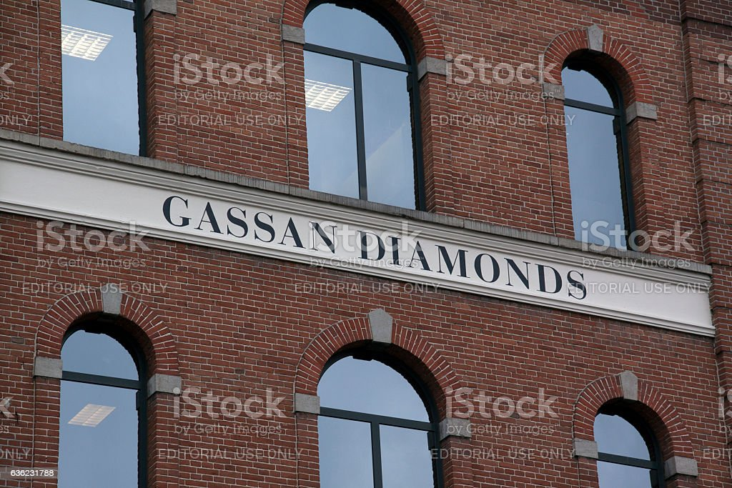 Facade of gassan diamonds in Amsterdam stock photo