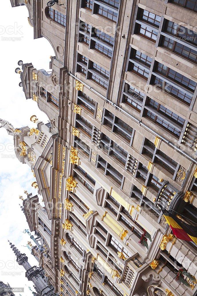Facade of guildhouse Maison des Ducs des Brabants stock photo