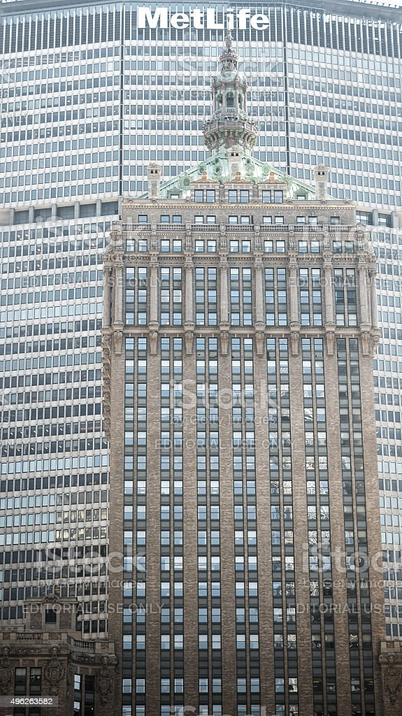 Facade of Helmsley Building  in New York stock photo