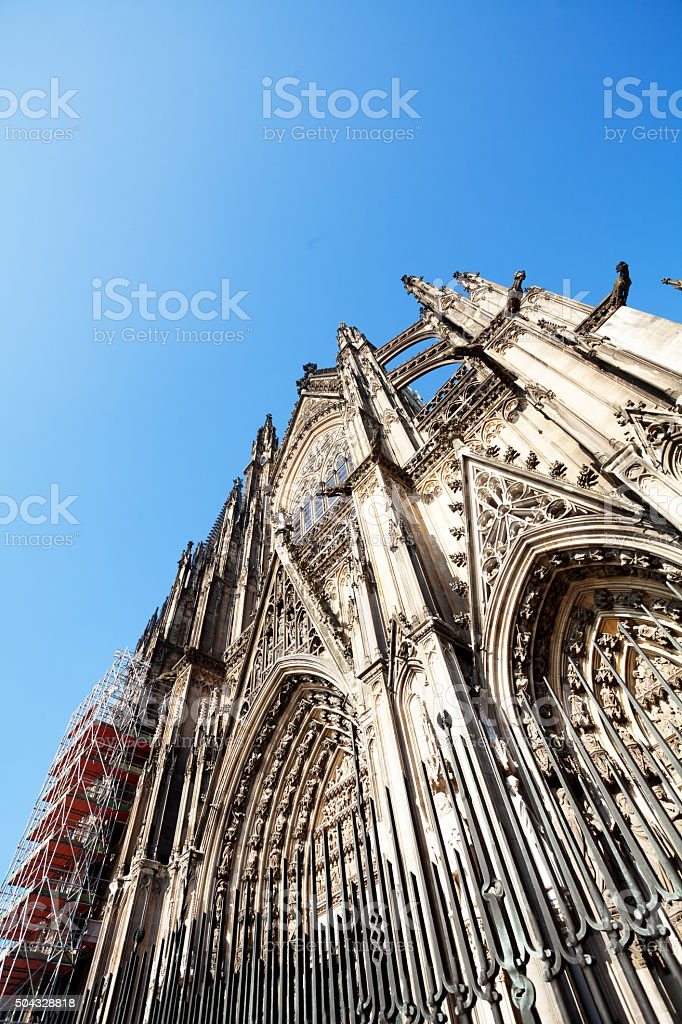 Facade of Kölner Dom stock photo