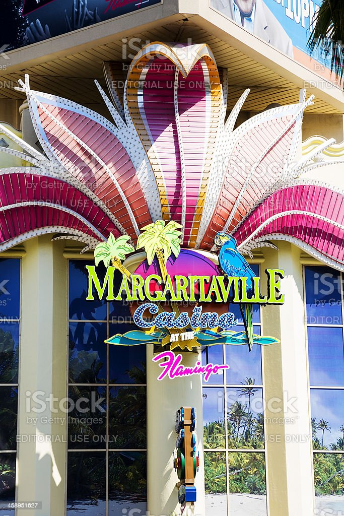 Facade of Margaritaville, inside the Flamingo Hotel and Casino stock photo