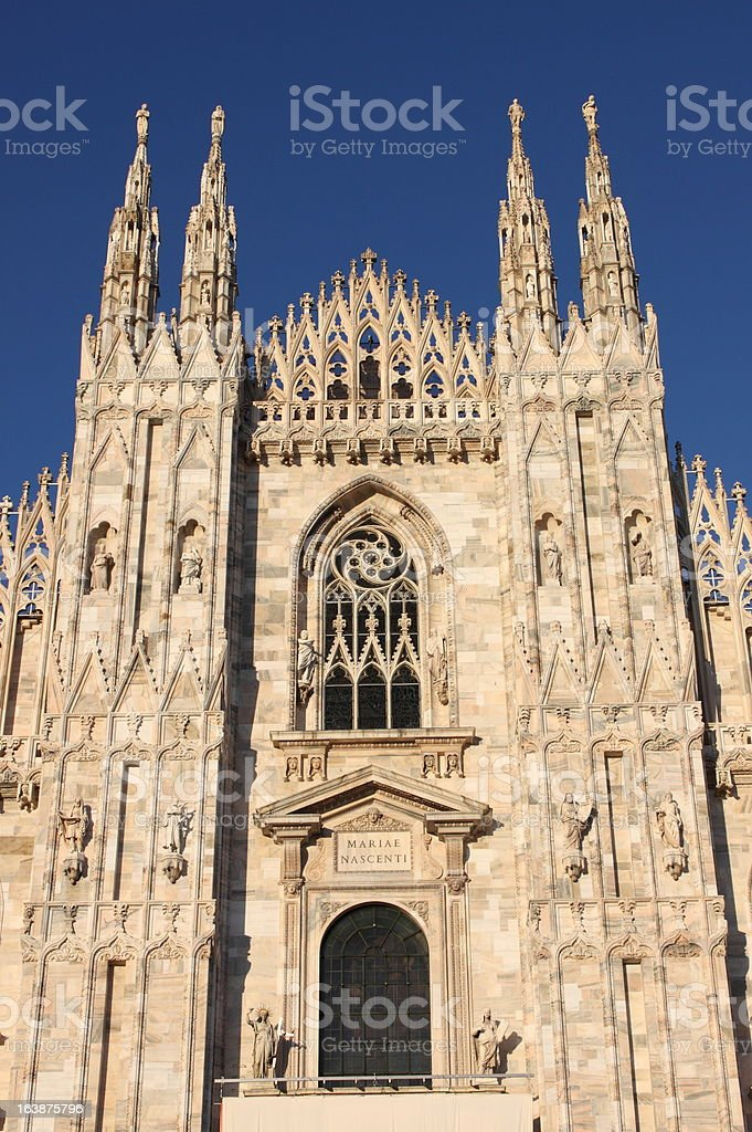 Facade of Milan cathedral royalty-free stock photo