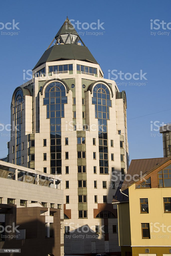 Facade of modern prestigious apartment building in Moscow. royalty-free stock photo