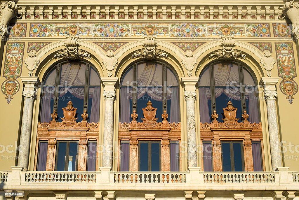 Facade of Monte Carlo Opera royalty-free stock photo