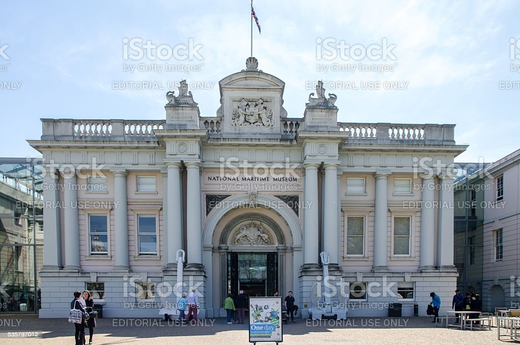 Facade of National Martime Museum of Greenwich stock photo
