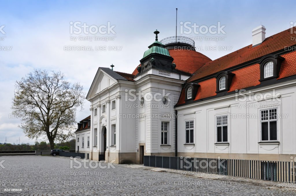 Facade of National Schiller Museum in his hometown Marbach. stock photo