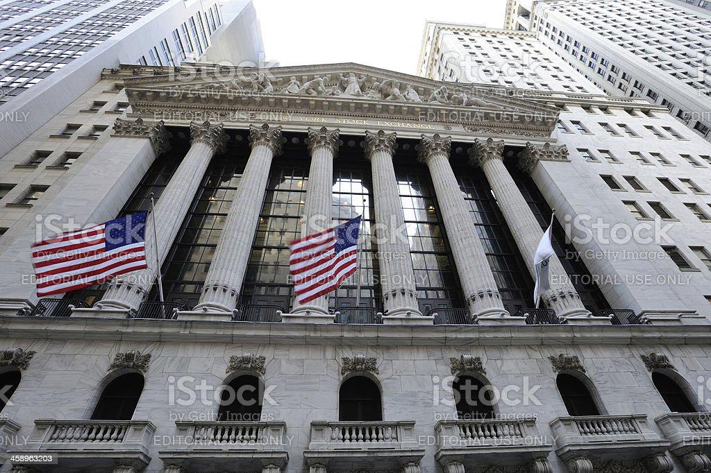 Facade of New York Stock Exchange royalty-free stock photo