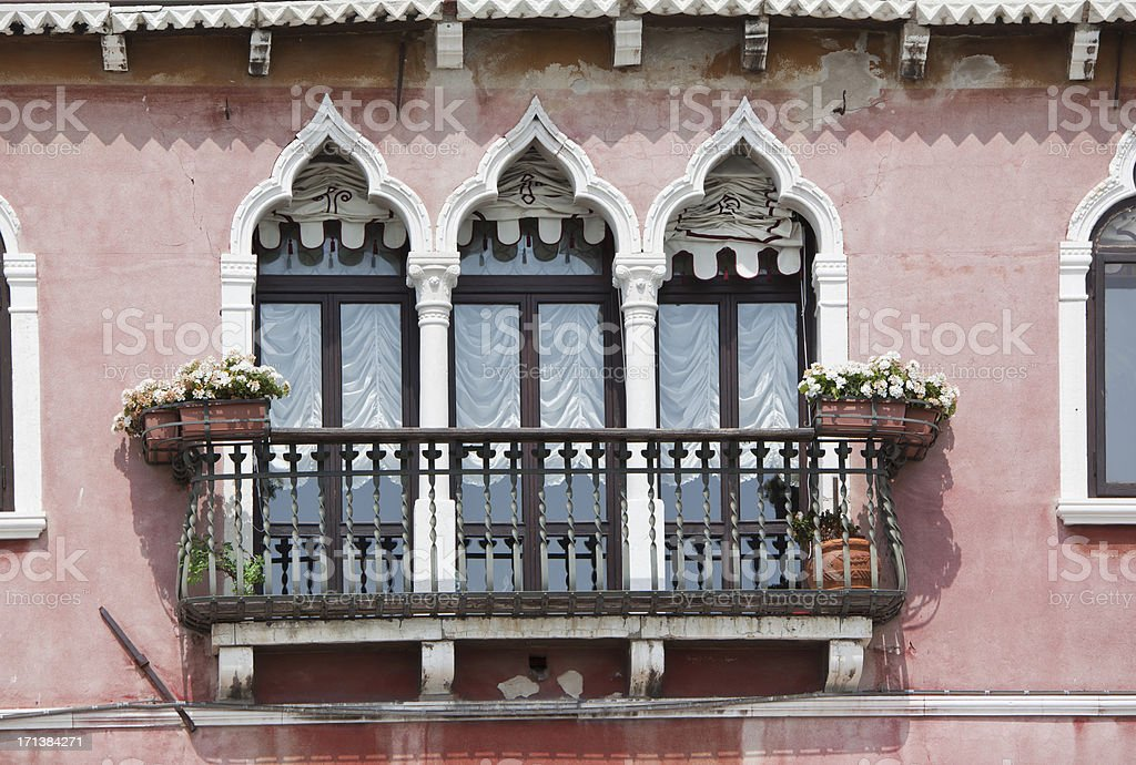 Facade of palace at Grand Canal in Venice Italy royalty-free stock photo
