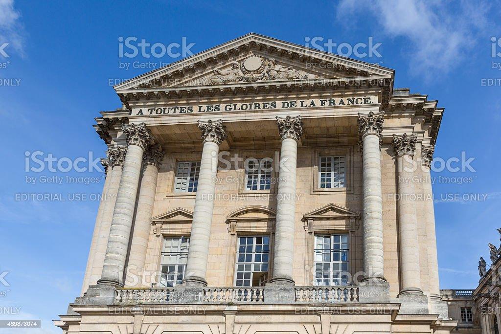 Facade of Palace Versailles near Paris, France stock photo