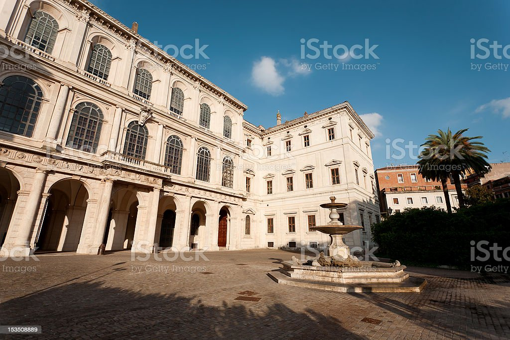 Facade of Palazzo Barberini stock photo