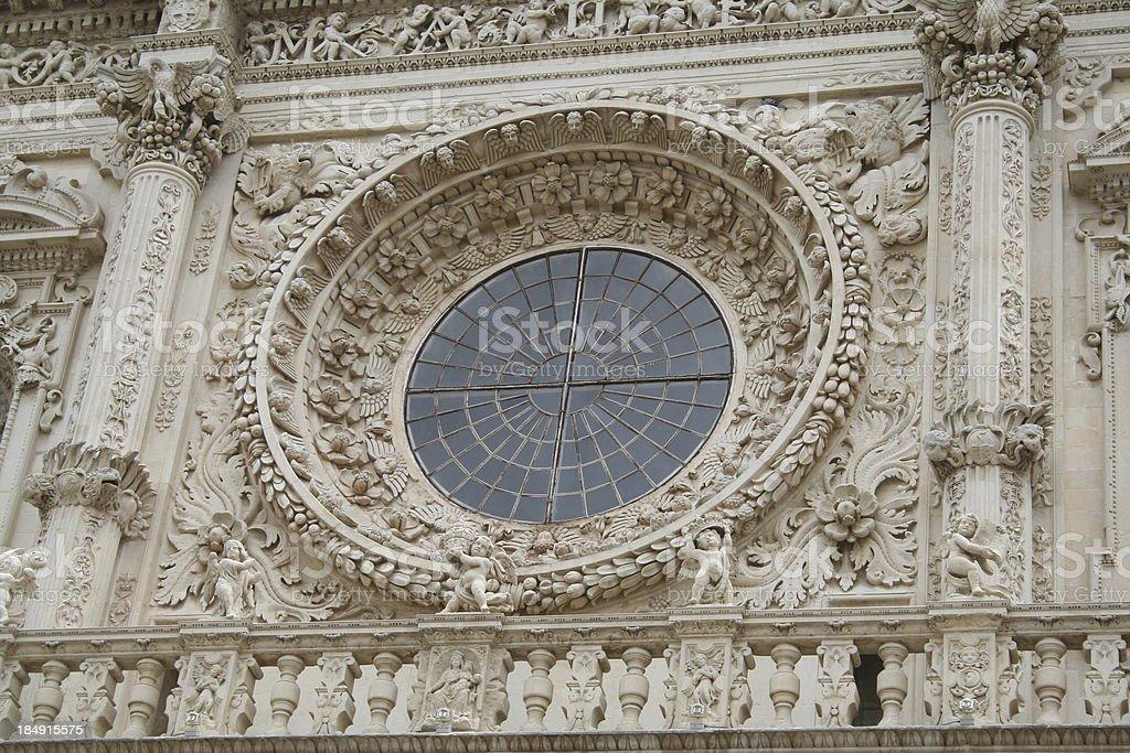 Facade of Santa Croce church, Lecce, Italy royalty-free stock photo