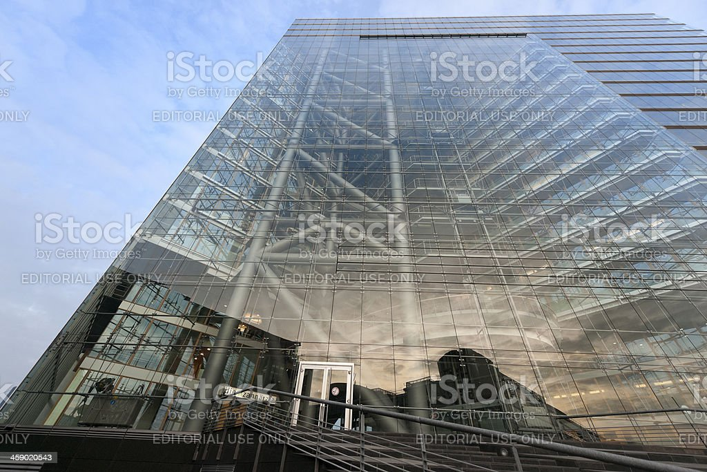 facade of Stadttor in Dusseldorf Germany stock photo