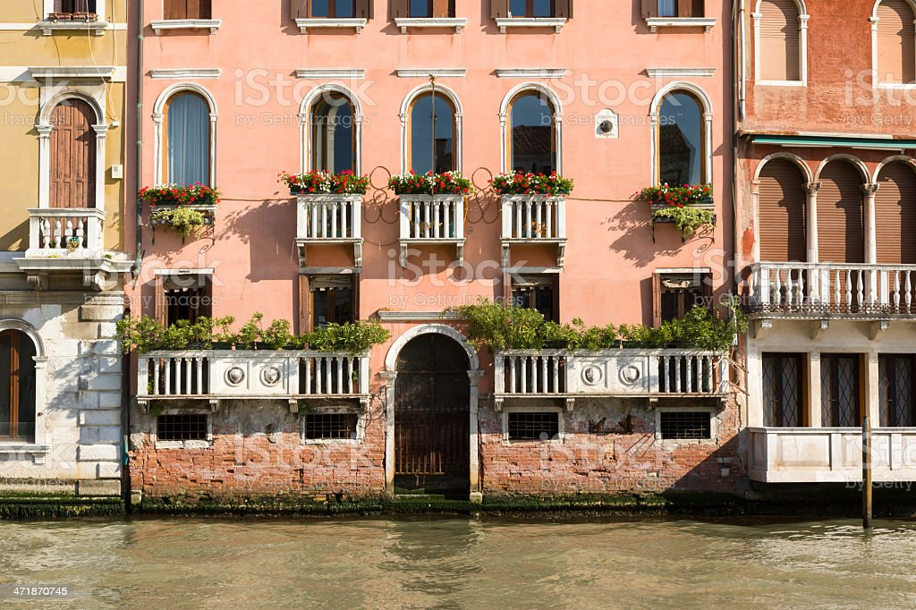 Facade of the building in Venice royalty-free stock photo