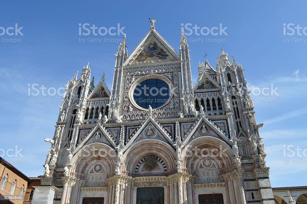 Fachada de la catedral de Siena foto de stock libre de derechos