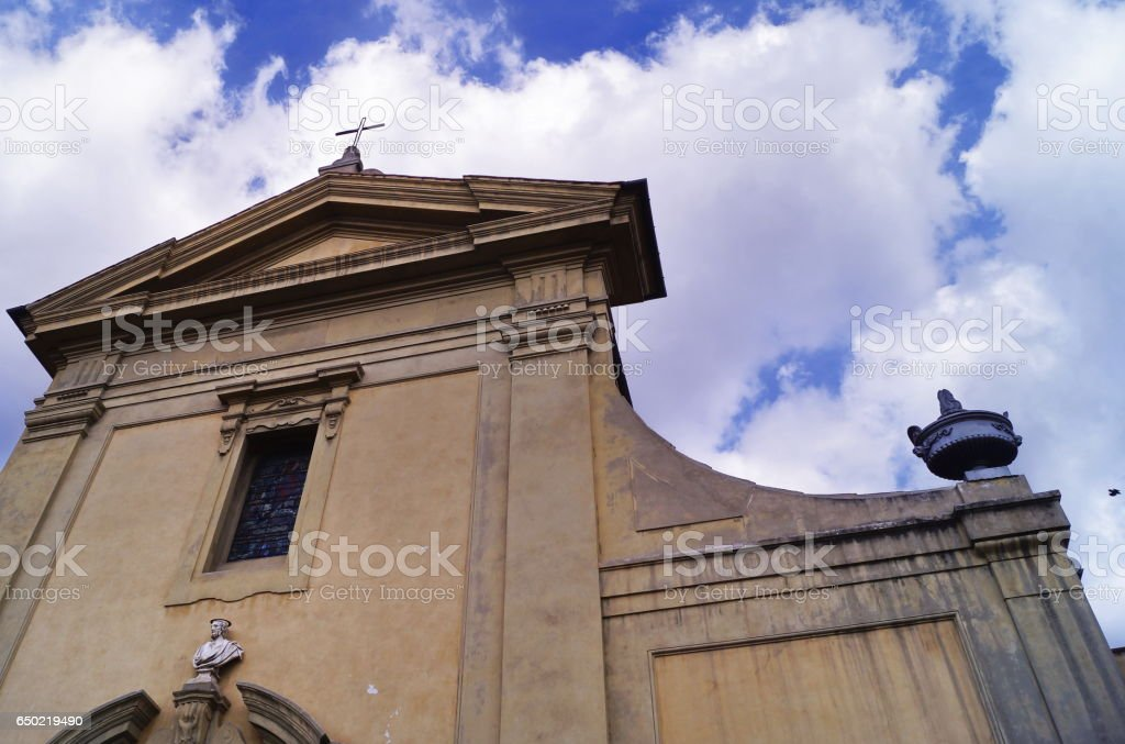 Facade of the church of San Giuseppe, Florence stock photo