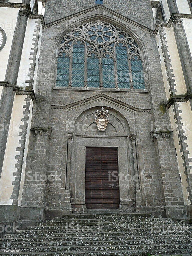 Facade of the church of San Martino al Cimino stock photo