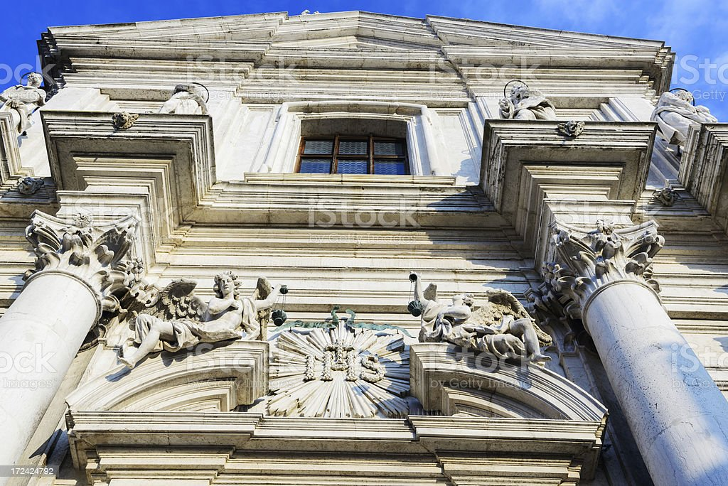 Facade of the Gesuiti in Venice royalty-free stock photo