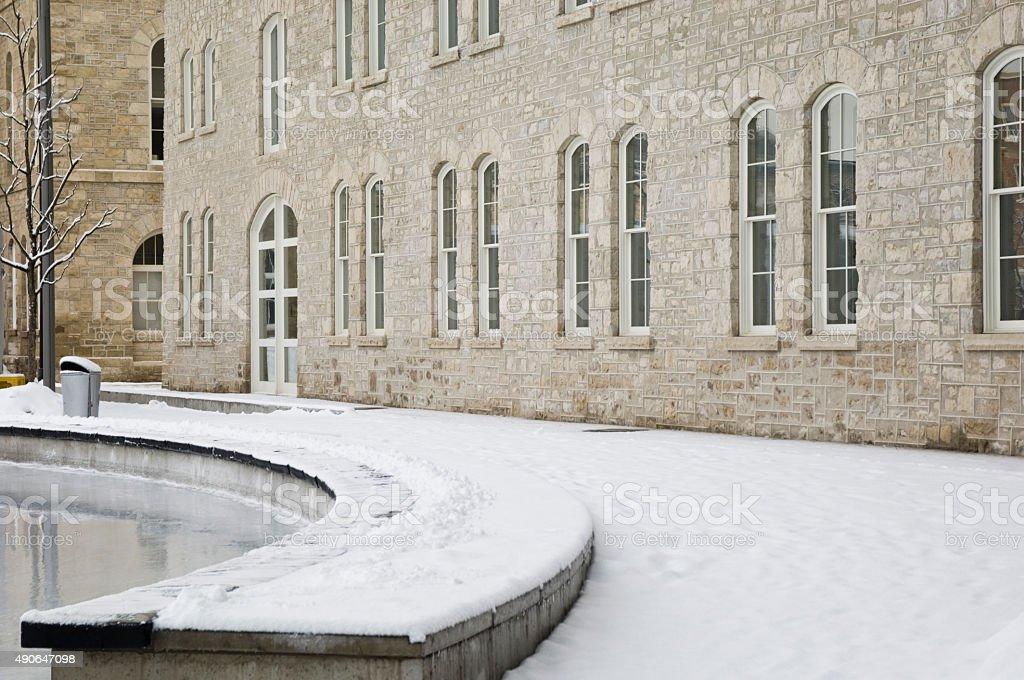Facade of the new City Hall in Guelph Ontario stock photo